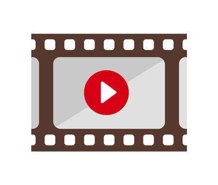 film, movie, video color icon