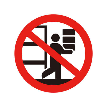 Prohibition vector icon illustration  No panic buying , No buying up