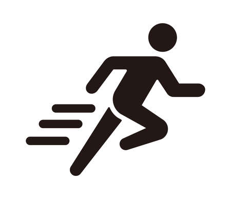 Run, sport, exercise vector icon illustration  イラスト・ベクター素材