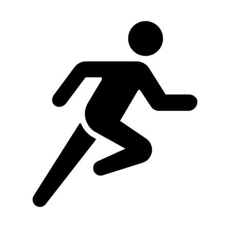 Run, sport, exercise vector icon illustration Vectores