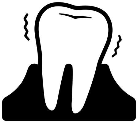 Dental care , Tooth related icons illustration / Periodontal disease