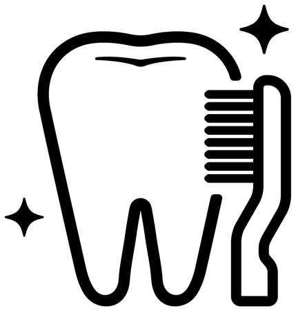 Dental care , Tooth related icons illustration / toothbrush  イラスト・ベクター素材