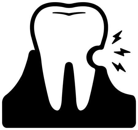 Dental care , Tooth related icons illustration / sensitive tooth , dental decay  イラスト・ベクター素材