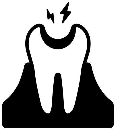 Dental care , Tooth related icons illustration / Tooth decay  イラスト・ベクター素材