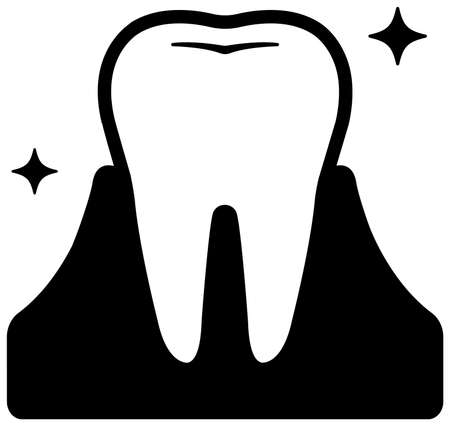 Dental care , Tooth related icons illustration / Healthy tooth