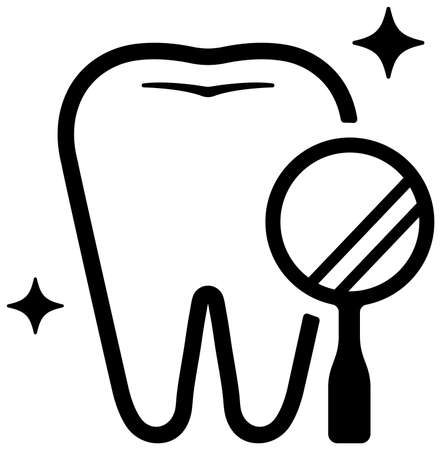 Dental care , Tooth related icons illustration / dental checkup