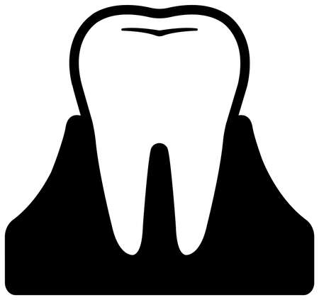 Dental care , Tooth related icons illustration / normal tooth