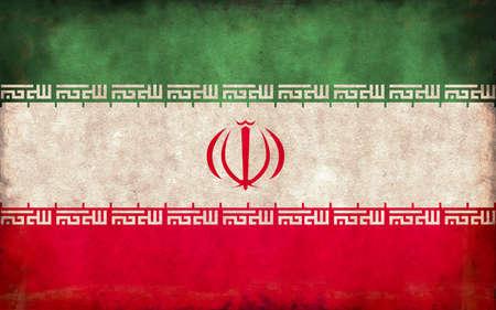 Grunge country flag illustration / Iran
