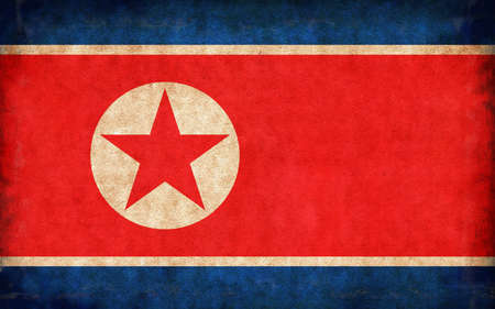 Grunge country flag illustration / North Korea