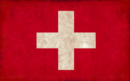 Grunge country flag illustration / Switzerland