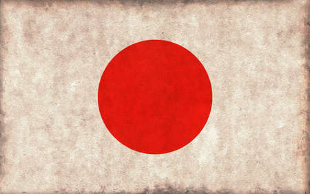 Grunge country flag illustration / Japan