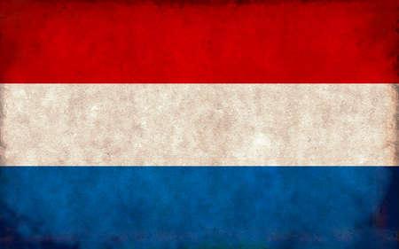 Grunge country flag illustration / Netherlands