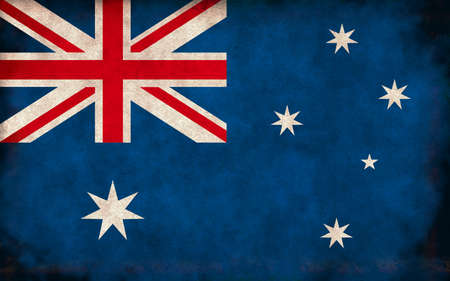 Grunge country flag illustration / Australia