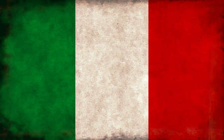 Grunge country flag illustration / Italy Imagens