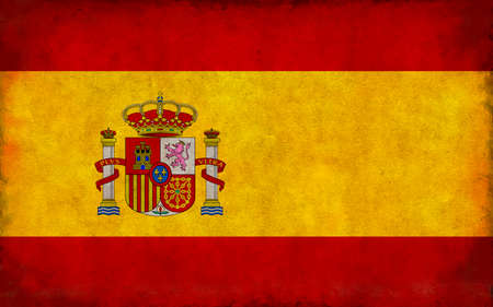 Grunge country flag illustration / Spain Imagens