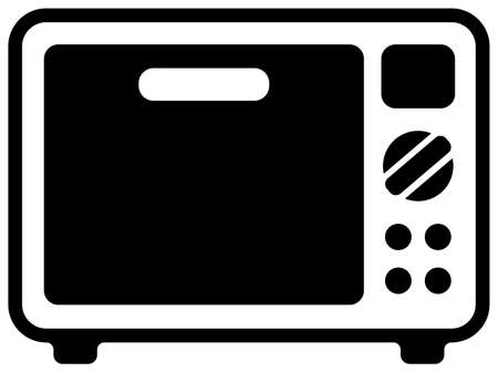 Microwave, oven/ Home appliance , furniture vector icon liceration Vetores