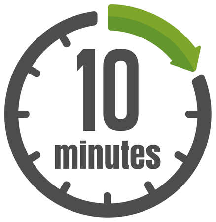 Clock , timer (time passage) icon / 10 minutes Ilustracja