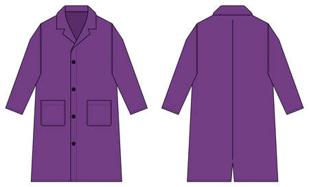 Long coat, trench coat vector template illustration / purple 矢量图像