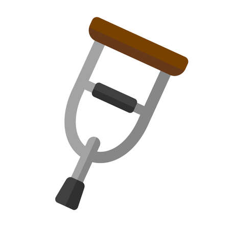 Crutch vector icon illustration ( injury,hospital,handicap)