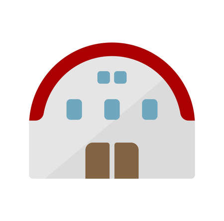 gymnasium, hall vector icon illustration