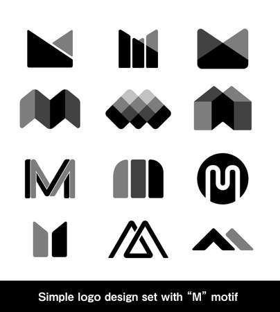 Simple logo design set with
