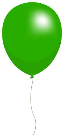 Colorful helium balloon vector illustration ( green ) Çizim