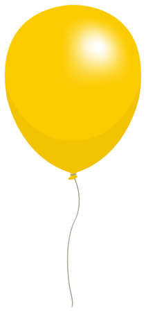 Colorful helium balloon vector illustration ( yellow )