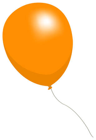 Colorful helium balloon vector illustration ( orange )