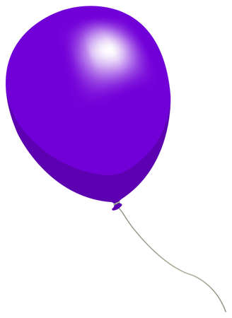 Colorful helium balloon vector illustration ( purple )