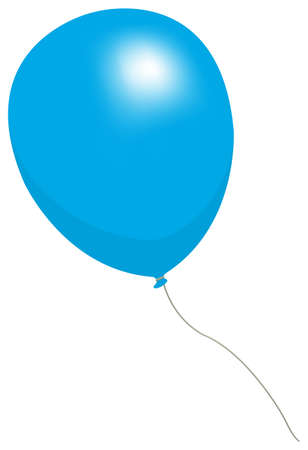Colorful helium balloon vector illustration ( blue ) Çizim
