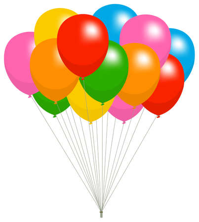 Colorful helium balloons vector illustration Ilustracja