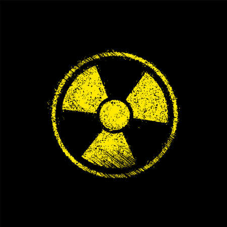 Grunge radiation symbol (toxic sign) vector illustration Ilustracja