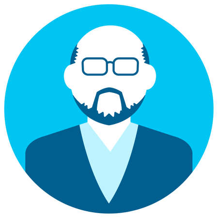 Circular avatar vector illustration (Male)