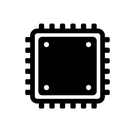 Computer CPU vector icon illustration