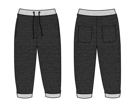 Vector illustration of Sweat casual pants 向量圖像