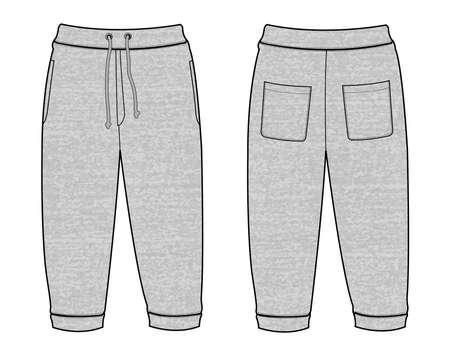 Vector illustration of Sweat casual pants Vektorgrafik