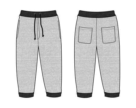 Vector illustration of Sweat casual pants