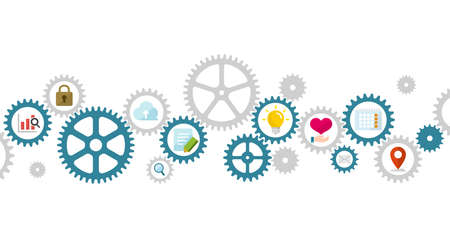 Business concept vector illustration. Gear wheel (technology) and technology.