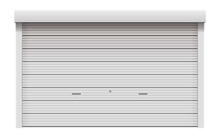Roller shutter door vector illustration ( white )