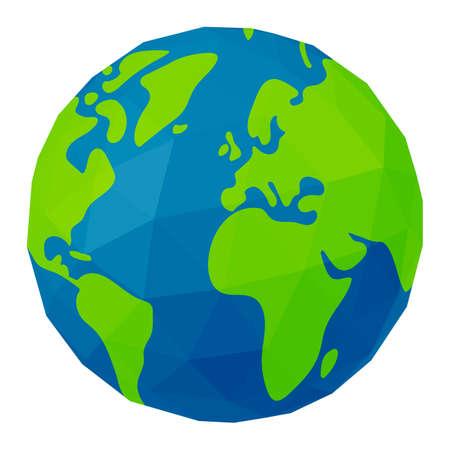 Vector Illustration of polygonized earth ( globe )