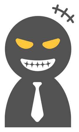 Vector illustration of cheater ( scammer , swindler ) | silhouette man