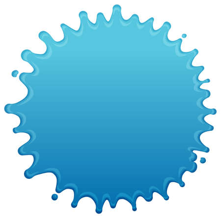 Blue water splash shape vector illustration 向量圖像