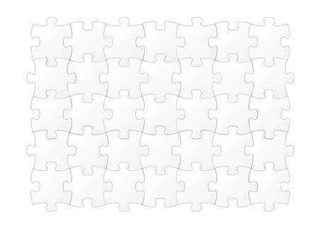 Jigsaw puzzle template vector illustration