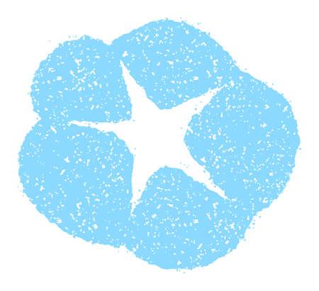 Summer motif rubber stamp illustration for summer greeting card etc.   morning glory flower 向量圖像