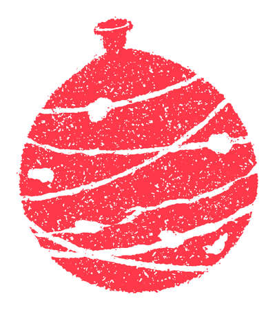 Summer motif rubber stamp illustration for summer greeting card etc.   water balloon 向量圖像