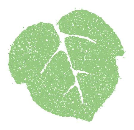 Summer motif rubber stamp illustration for summer greeting card etc.   morning glory leaf