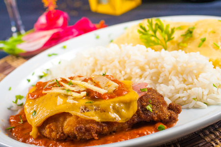 Parmegiana Chiken Fillet with rice