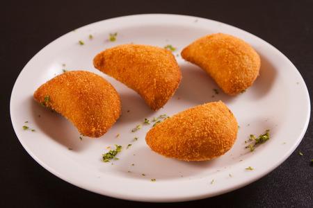 breaded: Tradicional Breaded Shrimp Risoles with cream cheese