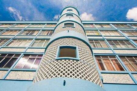 bilding: Blue Bilding with Panoramic staircase in Teresopolis, Rio de Janeiro, Brazil