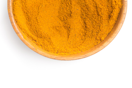 curcumin: Turmeric powder into a bowl Stock Photo